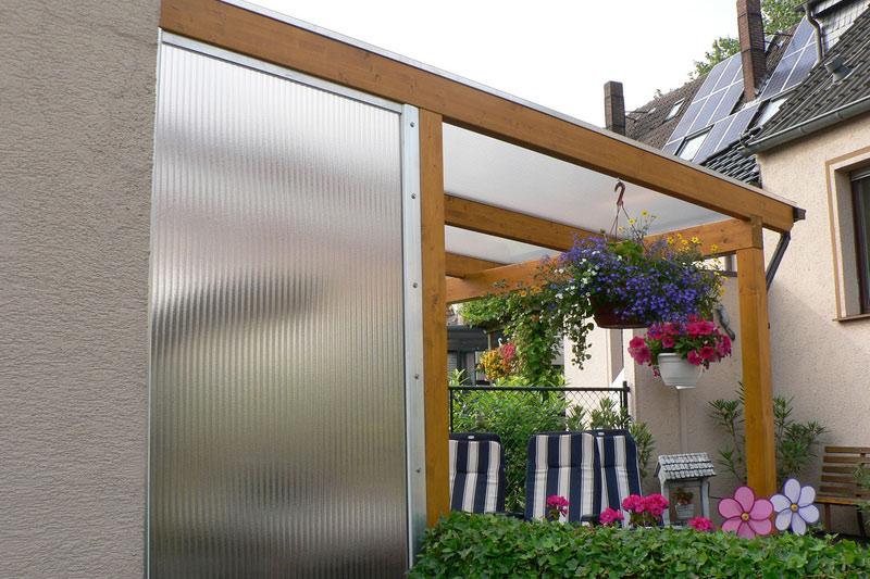 Doppelstegplatten f r berdachungen kunststoffhandel - Seitenwand terrasse ...